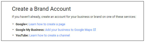 Google maps branded accounts
