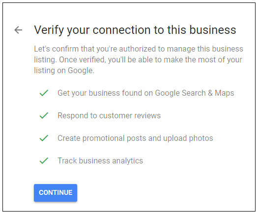 Google My Business verification process