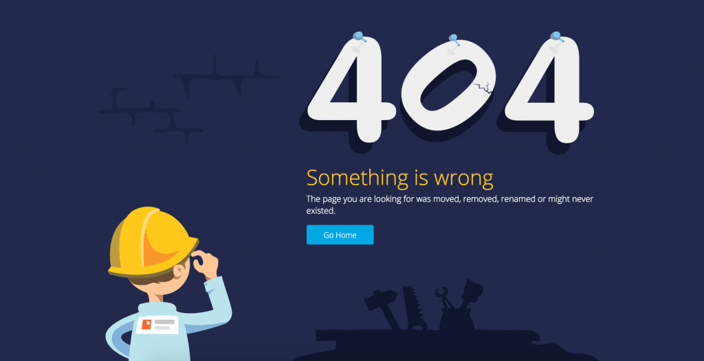not working internal link leads to a 404 page