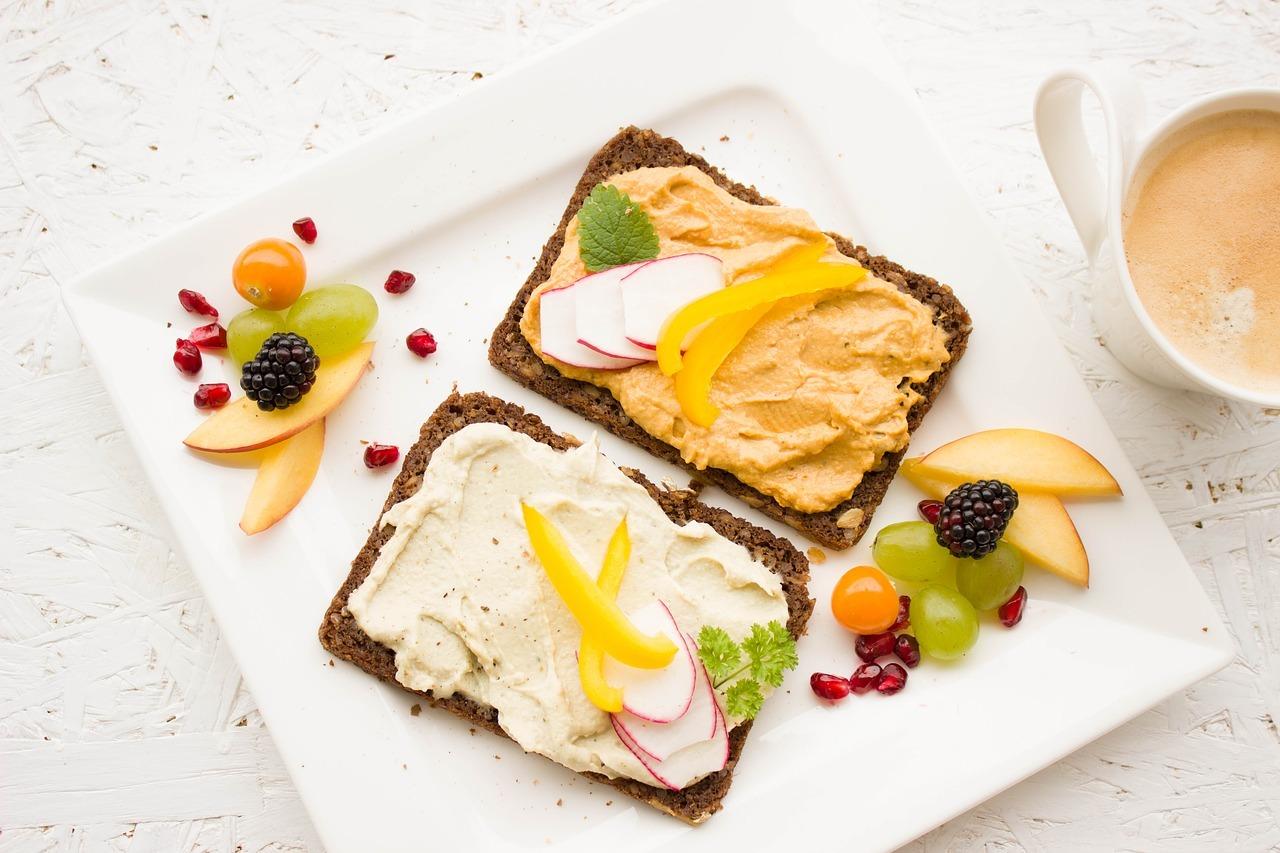 vegan breakfast presented