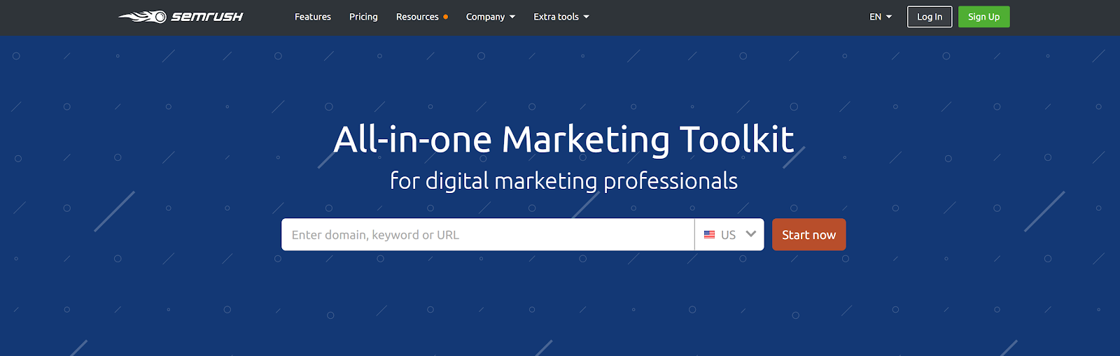 SEMrush is an all-in-one seo research toolkit