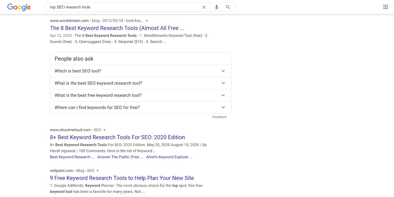 Top SEO research tools